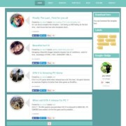 Amiga Responsive Blogger Templates