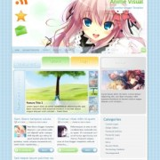 Anime Visual Blogger Templates