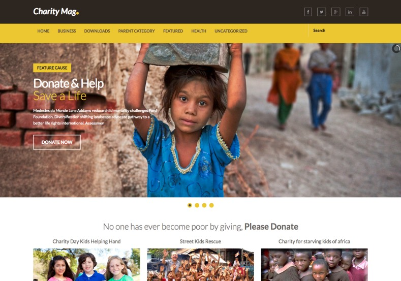 Charity Mag Blogger Template. Blogger Themes. Free Blogspot templates for your blogger blog. Best suitable for news blog templates. Best Ads ready blogspot templates help for add adsense ad code and easily showing adsence ads in your blog. Adapted from WordPress templates are converted from WordPress themes. It is help for take your rich. Blogger magazine template specially designed for magazine blogs. The writers can utilize this themes for take blog attractive to users. Elegant themes are more used themes in most of the blogs. Use minimalist blog templates for rich look for your blog. Free premium blogger themes means, themes authors release two types of themes. One is premium another one is free. Premium templates given for cost but free themes given for no cost. You no need pay From California, USA. $10 USD, or $20 USD and more. But premium buyers get more facilities from authors But free buyers. If you run game or other animation oriented blogs, and you can try with Anime blog templates. Today the world is fashion world. So girls involve to the criteria for make their life fashionable. So we provide fashion blogger themes for make your fashionable. News is most important concept of the world. Download news blogger templates for publishing online news. You can make your blog as online shopping store. Get Online shopping store blogger template to sell your product. Navigation is most important to users find correct place. Download drop down menu, page navigation menu, breadcrumb navigation menu and vertical dropdown menu blogspot themes for free. Google Guide to blogging tips and tricks for bloggers. Google bloggers can get blogspot trick and tips for bloggers. Blog templates portfolio professional blogspot themes, You can store your life moments with your blogs with personal pages templates. Video and movie blogs owners get amazing movie blog themes for their blogs. Business templates download. We publish blogger themes for photographers. Photographers easily sh