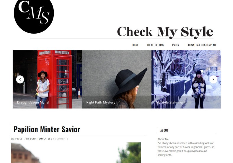Check My Style Blogger Template. Check My Style Blogger Template 2015 free download