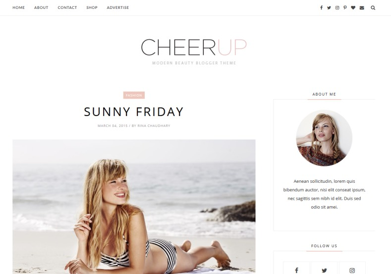 Cheerup Clean Blogger Template. Best clean coded blogger templates 2017 for your blogger blogspot blogs. Download Cheerup Clean Blogger Template and enjoy blogging the way.