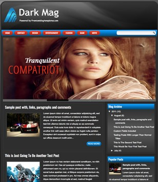 Dark Mag Responsive Blogger Templates