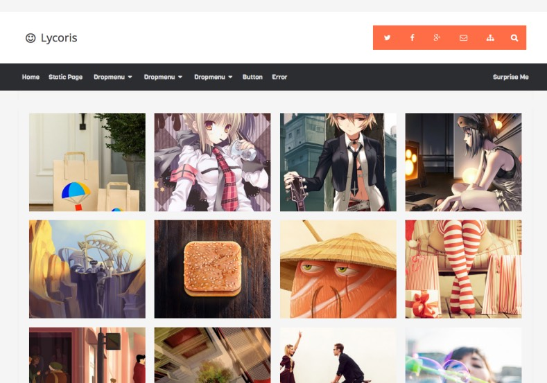 Lycoris v2.1 Responsive Blogger Template. Blogger Themes. Free Blogspot templates for your blogger blog. Best suitable for news blog templates. Ads ready blogspot templates help for add adsense ad code and easily showing adsence ads in your blog. Adapted from WordPress templates are converted from WordPress themes. It is help for take your rich. Blogger magazine template specially designed for magazine blogs. The writers can utilize this themes for take blog attractive to users. Elegant themes are more used themes in most of the blogs. Use minimalist blog templates for rich look for your blog. Free premium blogger themes means, themes authors release two types of themes. One is premium another one is free. Premium templates given for cost but free themes given for no cost. You no need pay From California, USA. $10 USD, or $20 USD and more. But premium buyers get more facilities from authors But free buyers. If you run game or other animation oriented blogs, and you can try with Anime blog templates. Today the world is fashion world. So girls involve to the criteria for make their life fashionable. So we provide fashion blogger themes for make your fashionable. News is most important concept of the world. Download news blogger templates for publishing online news. You can make your blog as online shopping store. Get Online shopping store blogger template to sell your product. Navigation is most important to users find correct place. Download drop down menu, page navigation menu, breadcrumb navigation menu and vertical dropdown menu blogspot themes for free. Google Guide to blogging tips and tricks for bloggers. Google bloggers can get blogspot trick and tips for bloggers. Blog templates portfolio professional blogspot themes, You can store your life moments with your blogs with personal pages templates. Video and movie blogs owners get amazing movie blog themes for their blogs. Business templates download. We publish blogger themes for photographers. Photographers easily share photos via photography blog themes. St valentine Christmas Halloween templates. Download Slideshow slider templates for free. Under construction coming soon custom blogspot template. Best beautiful high quality Custom layouts Blog templates from templateism, SoraTemplates, templatetrackers, simple, cute free premium professional unique designs blog themes blogspot themes. Seo ready portfolio anime fashion movie movies health custom layouts best download blogspot themes simple cute free premium professional unique designs xml html code html5.