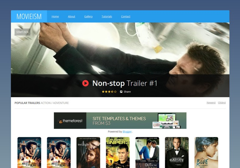 Movieism Responsive Blogger Template 3