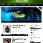 MusiMag Green Skin Blogger Templates