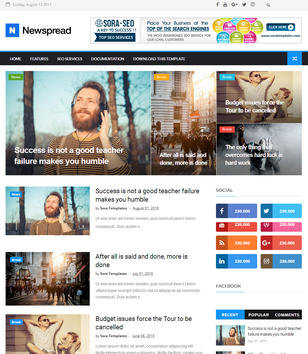 New Spread Blogger Templates
