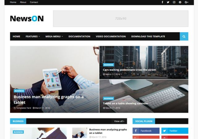 Newson - Responsive Blogger Template