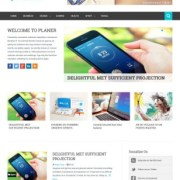 Planer Responsive Blogger Templates