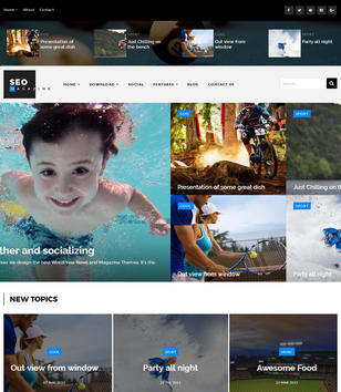 Seo Sports Magazine Blogger Templates