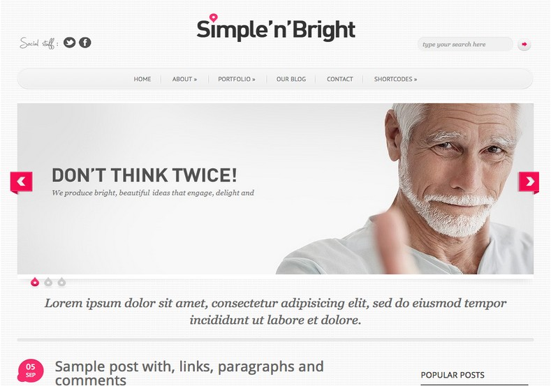 Simple'n Bright Blogger Template. Blogger Themes. Free Blogspot templates for your blogger blog. Best suitable for news blog templates. Best Ads ready blogspot templates help for add adsense ad code and easily showing adsence ads in your blog. Adapted from WordPress templates are converted from WordPress themes. It is help for take your rich. Blogger magazine template specially designed for magazine blogs. The writers can utilize this themes for take blog attractive to users. Elegant themes are more used themes in most of the blogs. Use minimalist blog templates for rich look for your blog. Free premium blogger themes means, themes authors release two types of themes. One is premium another one is free. Premium templates given for cost but free themes given for no cost. You no need pay From California, USA. $10 USD, or $20 USD and more. But premium buyers get more facilities from authors But free buyers. If you run game or other animation oriented blogs, and you can try with Anime blog templates. Today the world is fashion world. So girls involve to the criteria for make their life fashionable. So we provide fashion blogger themes for make your fashionable. News is most important concept of the world. Download news blogger templates for publishing online news. You can make your blog as online shopping store. Get Online shopping store blogger template to sell your product. Navigation is most important to users find correct place. Download drop down menu, page navigation menu, breadcrumb navigation menu and vertical dropdown menu blogspot themes for free. Google Guide to blogging tips and tricks for bloggers. Google bloggers can get blogspot trick and tips for bloggers. Blog templates portfolio professional blogspot themes, You can store your life moments with your blogs with personal pages templates. Video and movie blogs owners get amazing movie blog themes for their blogs. Business templates download. We publish blogger themes for photographers. Photographers easily share photos via photography blog themes. St valentine Christmas Halloween templates. Download Slideshow slider templates for free. Under construction coming soon custom blogspot template. Best beautiful high quality Custom layouts Blog templates from templateism, SoraTemplates, templatetrackers, simple, cute free premium professional unique designs blog themes blogspot themes. Seo ready portfolio anime fashion movie movies health custom layouts best download blogspot themes simple cute free premium professional unique designs xml html code html5.