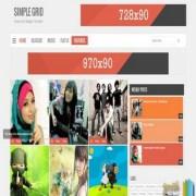 Simple Grid V2 Responsive Blogger Templates