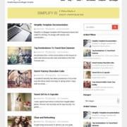Simplify Responsive Blogger Templates