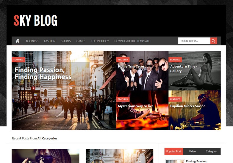 Sky Blog Responsive Blogger Template. Blogger Themes. Free Blogspot templates for your blogger blog. Best suitable for news blog templates. Best Ads ready blogspot templates help for add adsense ad code and easily showing adsence ads in your blog. Adapted from WordPress templates are converted from WordPress themes. It is help for take your rich. Blogger magazine template specially designed for magazine blogs. The writers can utilize this themes for take blog attractive to users. Elegant themes are more used themes in most of the blogs. Use minimalist blog templates for rich look for your blog. Free premium blogger themes means, themes authors release two types of themes. One is premium another one is free. Premium templates given for cost but free themes given for no cost. You no need pay From California, USA. $10 USD, or $20 USD and more. But premium buyers get more facilities from authors But free buyers. If you run game or other animation oriented blogs, and you can try with Anime blog templates. Today the world is fashion world. So girls involve to the criteria for make their life fashionable. So we provide fashion blogger themes for make your fashionable. News is most important concept of the world. Download news blogger templates for publishing online news. You can make your blog as online shopping store. Get Online shopping store blogger template to sell your product. Navigation is most important to users find correct place. Download drop down menu, page navigation menu, breadcrumb navigation menu and vertical dropdown menu blogspot themes for free. Google Guide to blogging tips and tricks for bloggers. Google bloggers can get blogspot trick and tips for bloggers. Blog templates portfolio professional blogspot themes, You can store your life moments with your blogs with personal pages templates. Video and movie blogs owners get amazing movie blog themes for their blogs. Business templates download. We publish blogger themes for photographers. Photographers e