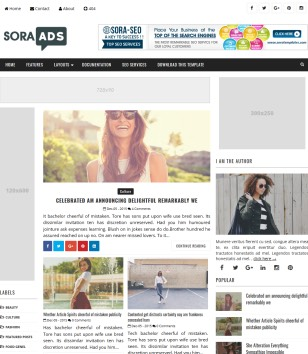 Sora Ads Blogger Templates