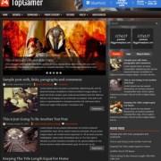 TopGamer Blogger Templates