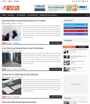 VIPI Blog Blogger Templates