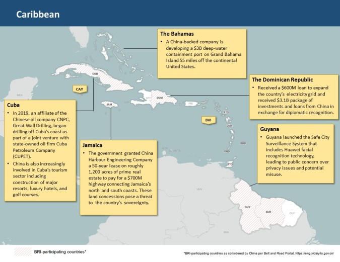 China Regional Snapshot: The Caribbean - Committee on Foreign Affairs