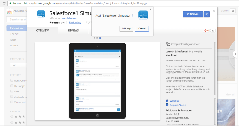 salesforce1 simulator1