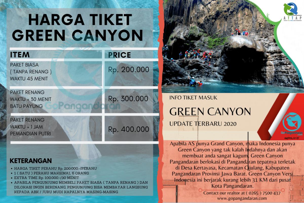 Harga Tiket Masuk Perahu Green Canyon Pangandaran Explore Wisata ...