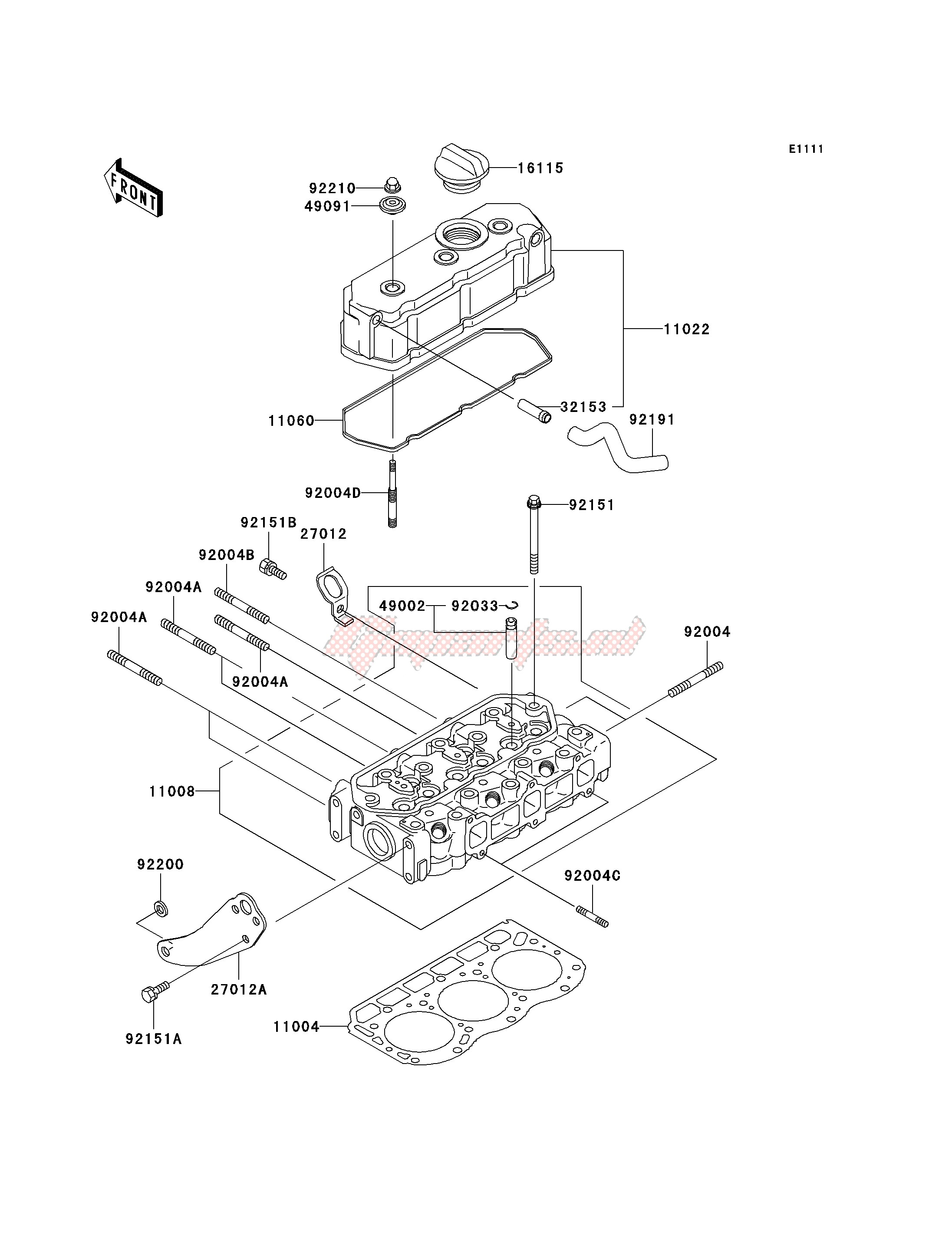 OEM parts Kawasaki [All terrain] KAF 950 B [MULE 3010