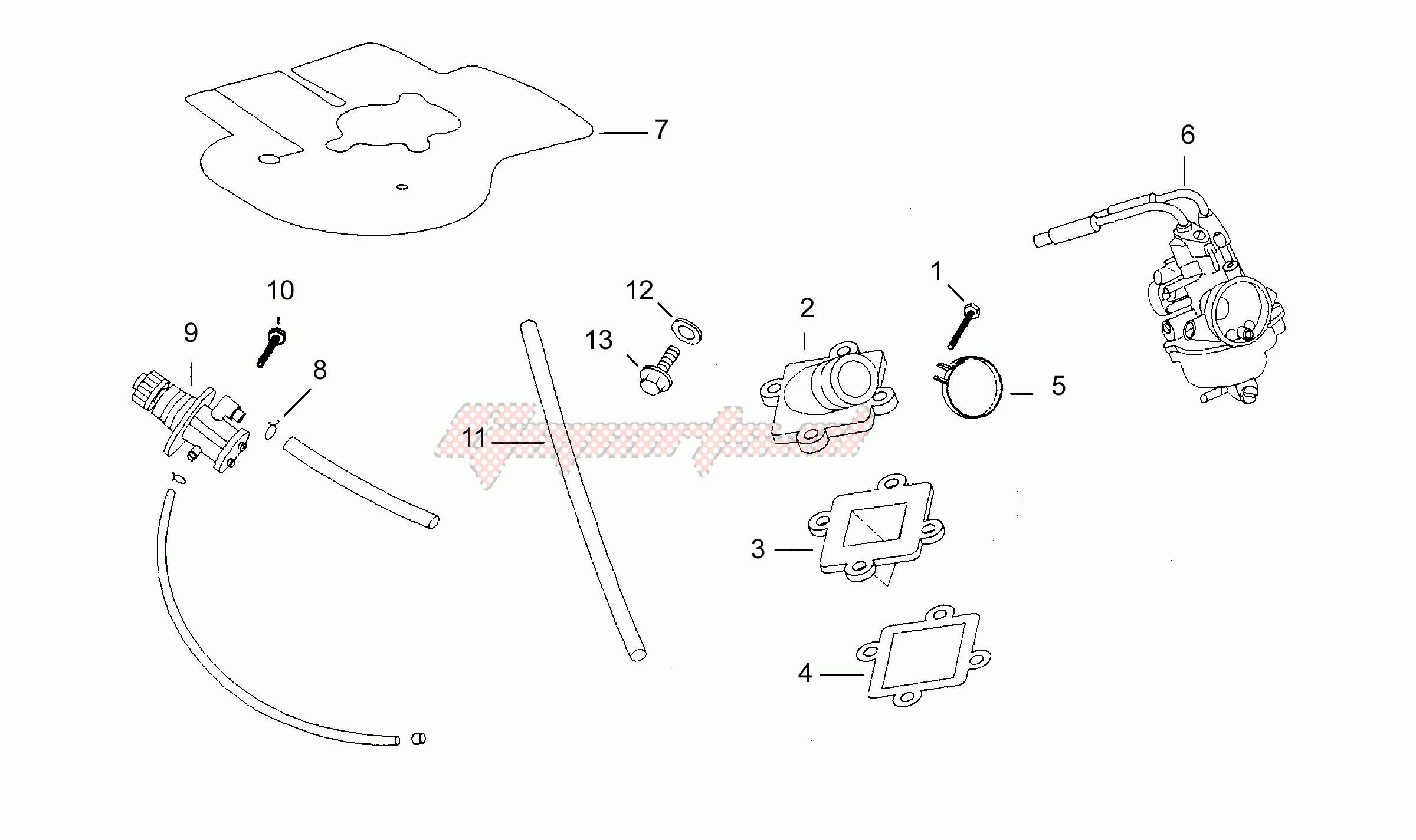 OEM parts Aprilia [Scooter] SR 50 1994-1996 Horizontal cil