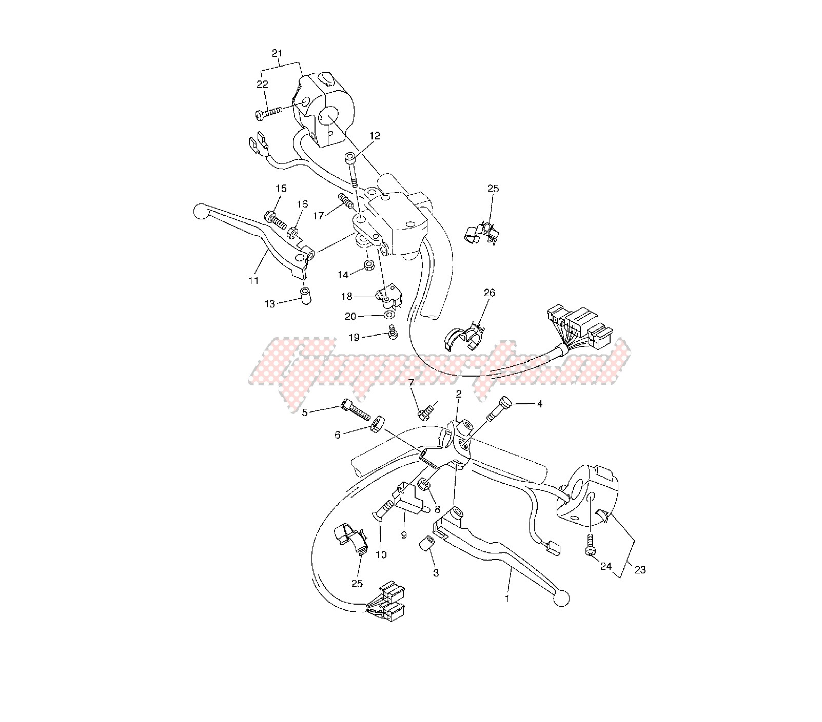 OEM parts Yamaha [Motorcycle] XVS A MIDNIGHT STAR 1300