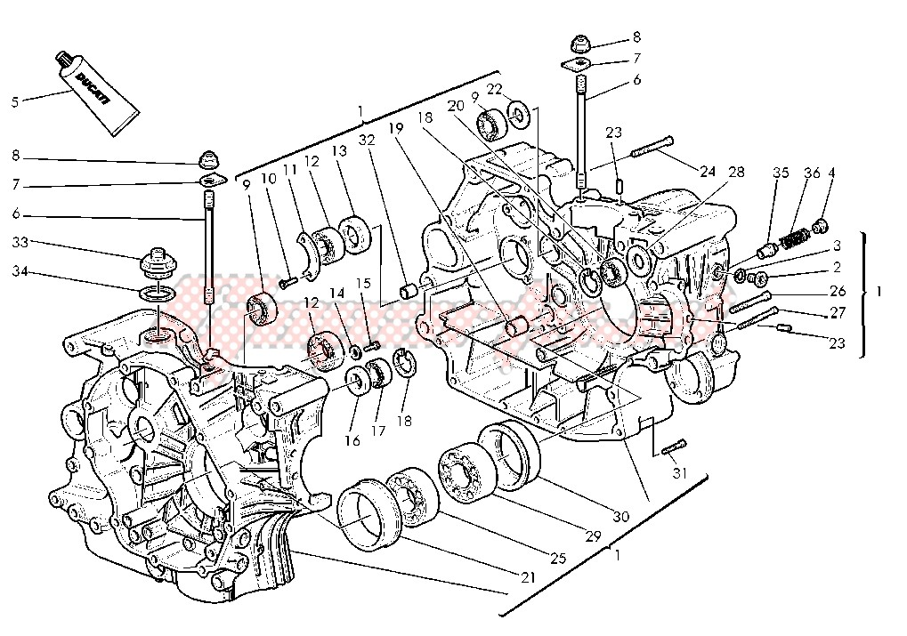 OEM parts Cagiva [Motorcycle] GRAND CANYON 900 / 2000