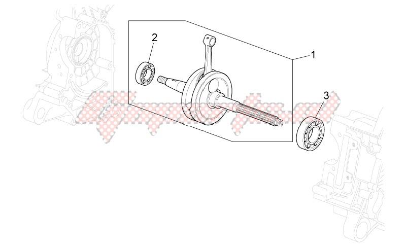 OEM parts Aprilia [Scooter] Scarabeo 100 4T e3 / 2011