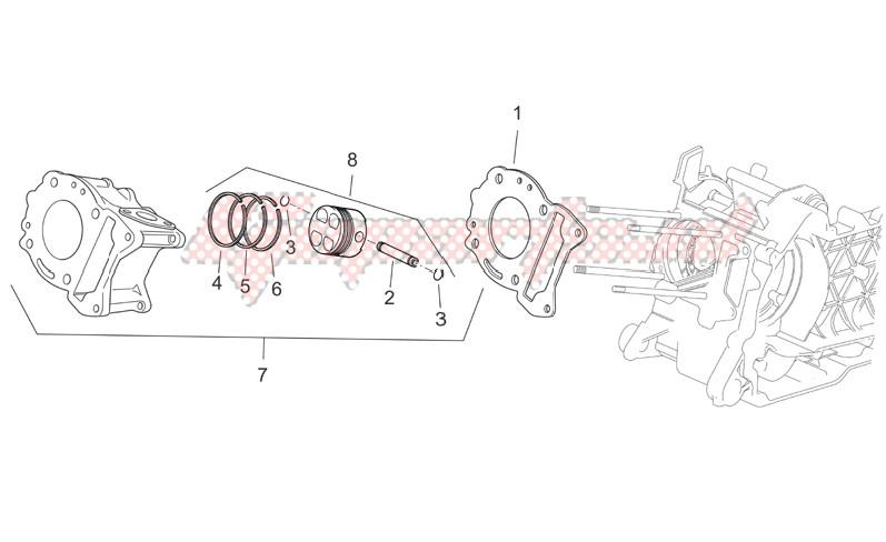 OEM parts Aprilia [Scooter] Scarabeo 125-250 e2 (eng