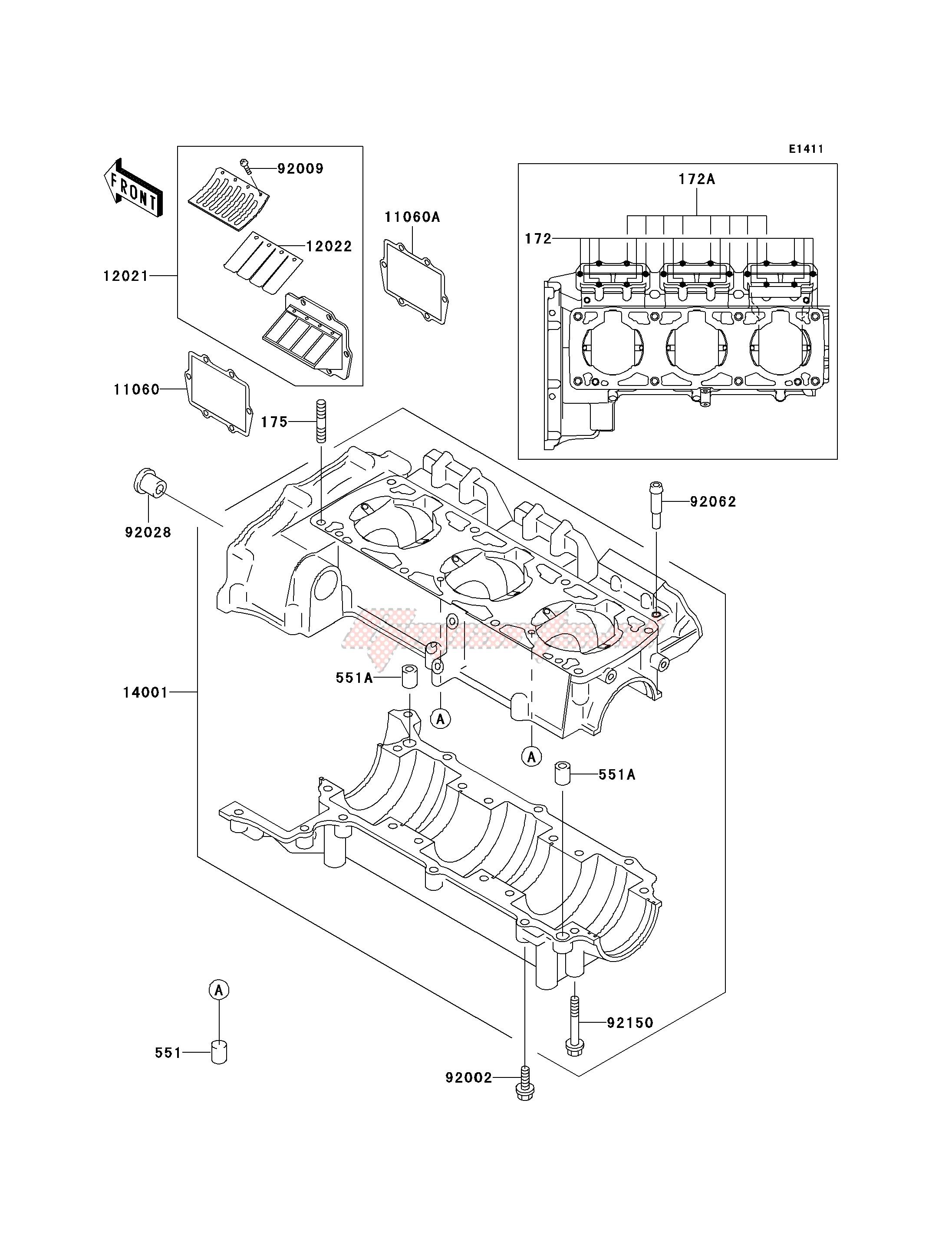 OEM parts Kawasaki [Jet ski] JT 900 C [900 STX] (C1-C2