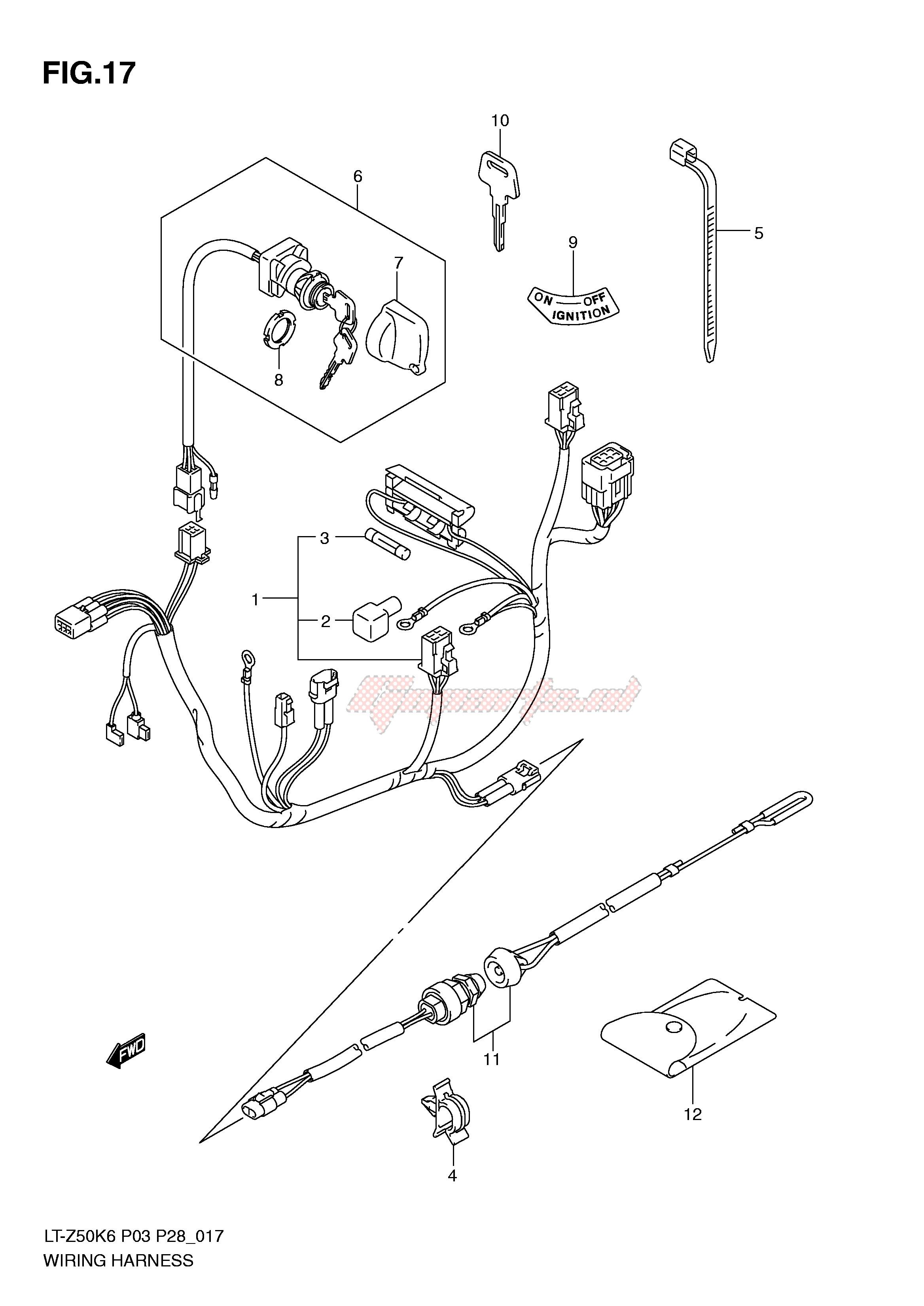 OEM parts Suzuki [All terrain] LT-Z50 (P3-P28) / 2007