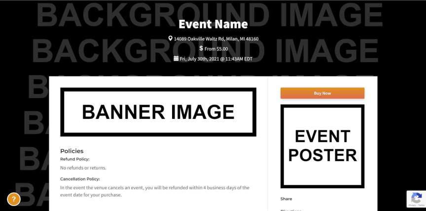 this is where graphics will appear on your event page