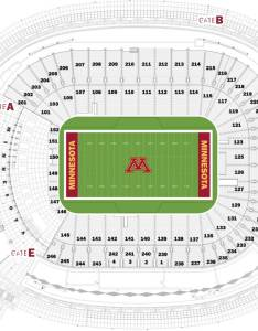 Tcf bank stadium also seating charts university of minnesota athletics rh gophersports