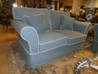 Slipcovered Loveseat at The Missing Piece
