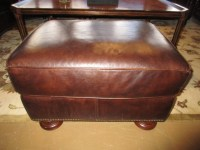 Thomasville Leather Chair & Ottoman at The Missing Piece