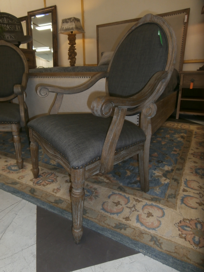 scoop back upholstered dining chairs desk chair in grey brentwood arm at the missing piece