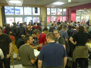 Thursday morning, Essen 2012, just before the floodgates opened