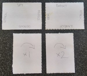 The first playtest cards