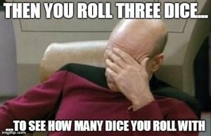 three dice