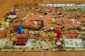 Lignum board section