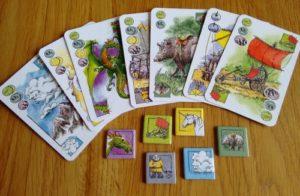 Elfenland cards tiles