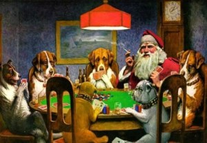 santa-dogs-playing-poker