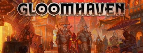 Gloomhaven box image - top of the BGG top 100 list in July 2020, so on many people's 'which board game to buy' list