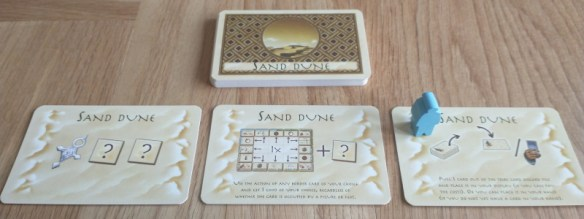 The new Sand Dune cards from Targi - The Expansion