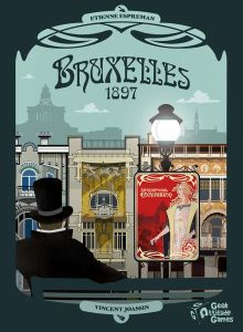 The Bruxelles 1897 board game box