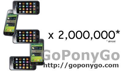 Samsung Galaxy S 2 millones de unidades