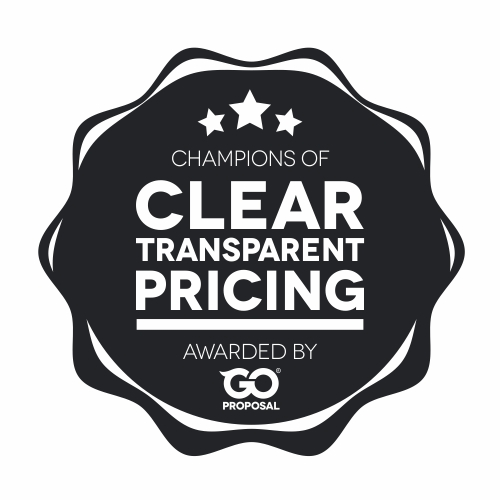 Clear Transparent Pricing By GoProposal
