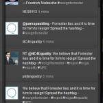 Activists push #resignforrester Twitter hashtag