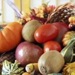 Enjoying the  fall garden's  bountiful harvest