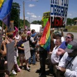 Over 1,000 gather in Newton to protest anti-gay preacher's comments